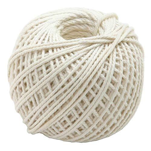 TUUROPD - Cuerda de algodón Natural, Apta para Alimentos, sin blanquear, para...