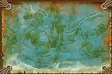 Shaan Renaissance Poster recto-verso cartes d'Héos (planète) et de l'Héossie