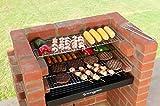 Barbacoa de ladrillos kit con parrillas de cocción de acero inoxidable + calentamiento Rack + bolsa de almacenamiento se ajusta a BS EN 1860: 2013–1para seguridad y calidad diseño BKB 404