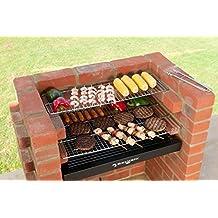 ladrillo barbacoa kit con acero inoxidable rejilla kit de barbacoa calentador estantera