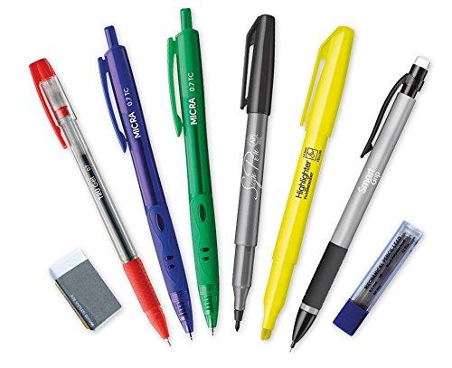 TimeTEX Lehrer-Schreib-Set 8-teilig - im Etui - Unterrichts-Marker - Kugelschreiber - Druckbleistift + Minen + Radiergummi - 62182