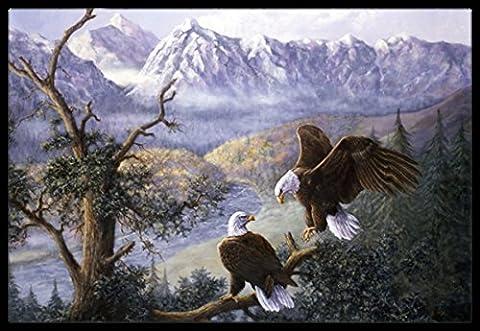 Caroline's Treasures BDBA0153MAT Eagles by Daphne Baxter Indoor or Outdoor Mat, 18