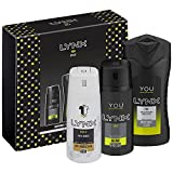 Lynx  You Trio Mens Gift Set with Body Wash, Body Spray and Anti-Perspirant - Gift Set for Him