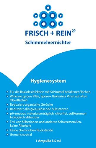 F+R Schimmelvernichter 1 Ampulle Spezialkonzentrat zur Sprühdesinfektion bei Schimmelbefall frei von Chlor, Alkohol und schädlichen quartären Ammoniumverbindungen