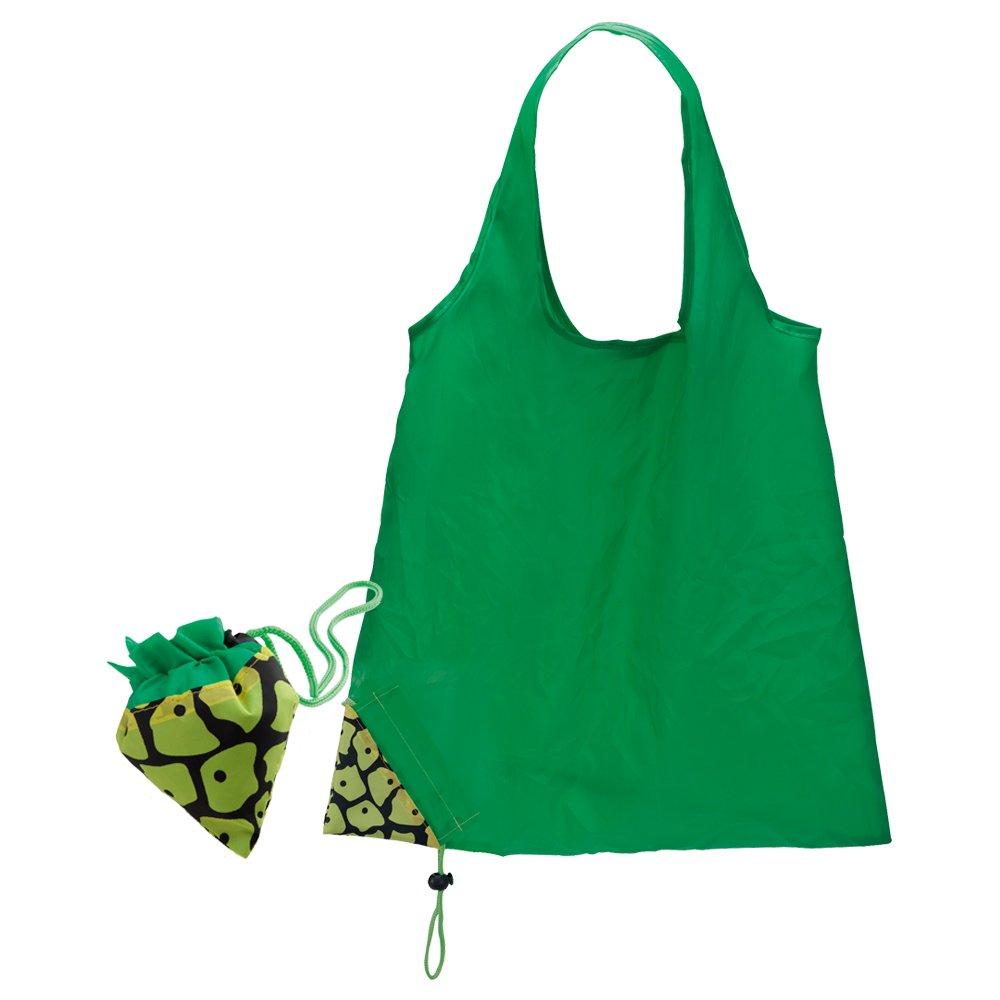 Confezione da 5 leggero Nylon pieghevole riutilizzabile Shopping Grocery Tote Bag di frutta