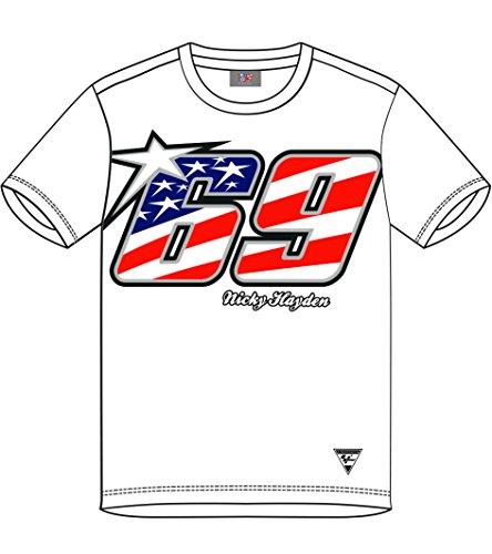 Pritelli Shirt Herren Nicky Hayden # 69, weiß, Größe XXL