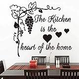 Sticker mural DIY Stickers muraux Décor à la maison La cuisine au coeur de la maison Arbre de raisin Cuisine Fenêtre Verre Stickers salle de bain Étanche: Amazon.fr: Bricolage & Amp;Outils