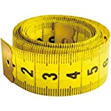 Metro per sarto, 1,5 m x 2 cm. Classico metro flessibile giallo