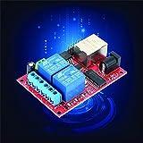 Lorenlli Fit LAN Ethernet 2-Wege-Relaisplatine Verzögerungsschalter TCP/UDP-Controller-Modul Web-Server Elektronik-Kit Platine