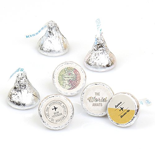 world-awaits-travel-themed-party-round-candy-sticker-favours-labels-fit-hersheys-kisses-1-sheet-of-1