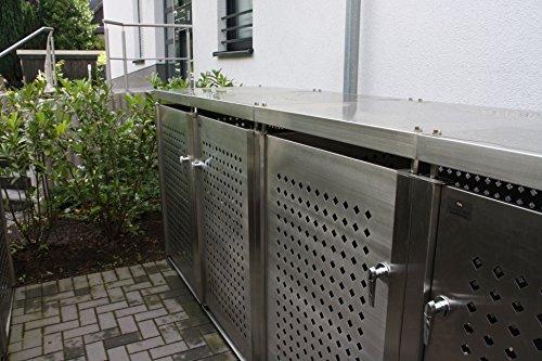 Mülltonnenbox für vier Mülltonnen 240 l - 6