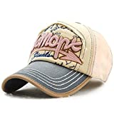 #2: Handcuffs Stylish Cotton Baseball Adjustable Brown Cap For Men/Women