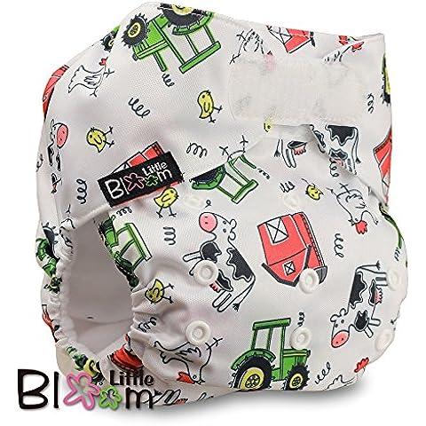 LittleBloom Panno Pannolini Lavabili Tasca Pannolino Riutilizzabile, Di Fissaggio: VELCRO, Set Di 1