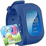 Smartwatch für Kinder,TURNMEON® Intelligent uhr mit GPS Anti-lost Tracker Smart Watch Handy mit SIM SOS Armband für Smartphone (Dunkelblau)