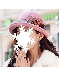 Automne Hiver chauffe-eau chapelet à sertir chapeau de dames réglable topper (4 couleurs disponibles)