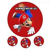 Tortenaufleger aus Zuckerpapier - Tortenbild Geburtstag Tortenplatte Zuckerbild Motiv: Super Mario Bros 02
