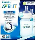 Philips Avent Classic+  1m+ Blue Feeding Bottle SCF565/27 (260ml/9oz), 2 Feeding Bottles