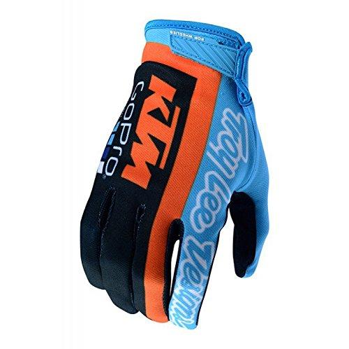 Handschuhe Moto Cross MTB Team Troy Lee Designs KTM GoPro Air Blau (Logo Troy Designs Lee)