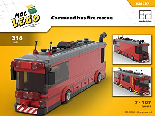Command bus for fire fighters (Instruction Only): MOC LEGO (English Edition)