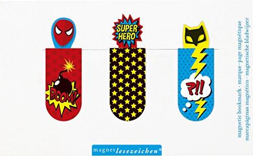 moses. 31127 Magnetlesezeichen Superhelden 3er Set, magnetisches Lesezeichen, charmant illustriert
