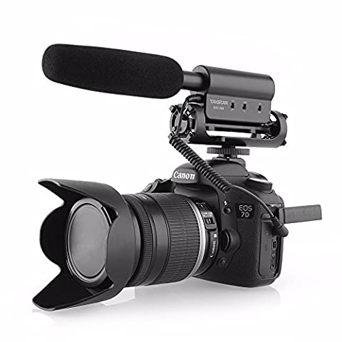 SGC-598 Haute Sensibilité Interview MIC Microphone Vidéo Stéréo Shotgun Microphone Photographie Pour Canon Nikon DSLR DV by Fotowelt