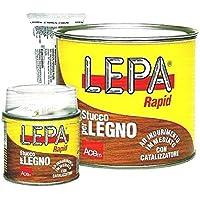 Stucco per legno bicomponente con catalizzatore LEPA RAPID Acem - Legno bianco, 750 ml