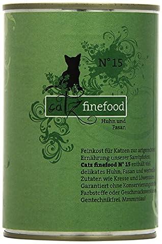 Catz finefood Katzenfutter No.15 Huhn & Fasan 400g, 6er Pack