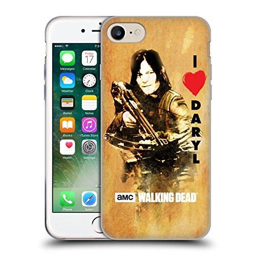 Offizielle AMC The Walking Dead Überleben Glas Typografie Soft Gel Hülle für Apple iPhone 6 Plus / 6s Plus Daryl Armbrust