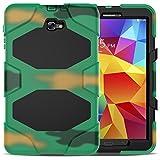 JBTec® Tablet Hybrid-Hülle OUTDOOR #O50 zu Samsung Galaxy Tab A 10.1 2016 / SM-T580 / LTE 2016 SM-T585 - Schutzhülle mit Silikon verstärkt Stossfest mit Displayschutz Ständer Stand-Funktion, Farbe:Camouflage