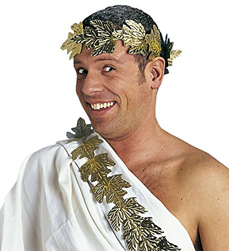 Caesar Kostüm Zubehör - Panelize  Lorbeerkranz Laurus Gold Römerkostüm Cäsar Kaiser Zubehör für antike Kostüme