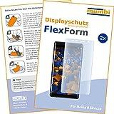mumbi Flex Schutzfolie kompatibel mit Nokia 8 Sirocco Folie, Displayschutzfolie (2x)