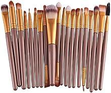 westeng 20pcs/set-juego de brochas de maquillaje cosmético Fundación Pinceles para Ojos Labios Kit de herramientas