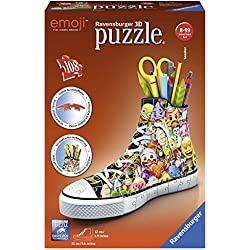 Ravensburger Zapatilla Portalápices, Girly Girl Edition, Emoji (11218)