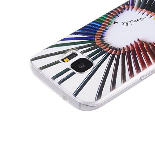PowerQ Bunte Muster Serie Malerei Drucken Tasche TPU Hülle Etui Fall Case Cover < Sky Withered | für IPhone 6 6S IPhone6S IPhone6 >           Zeichnung weiche Silikon Abdeckung Handy-Fall Handy-Abdeckungs weich Heart-shaped pencil