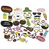 E-muse 41 Aloha Hawai Fiesta de Luau Prop Cabina de Fotos Photocall Máscara para Boda Cumpleaños Fiestas