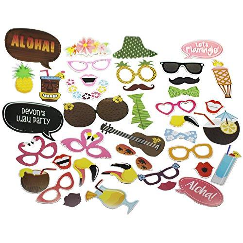 accesorios photocall hawaianos
