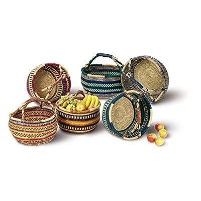 Seegrastasche 'Afrika', Einkaufskorb, Korbtasche, Strohtasche, Einkaufstasche, Korb von maDDma - Du und dein Garten