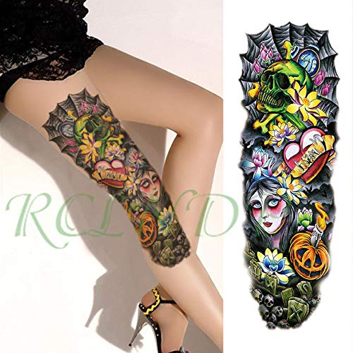 3PCs Pegatinas de tatuaje prueba de Agua Rose Angel Wings Bird Butterfly Vine Full Arm Tattoo Tattoo Hombres y Mujeres 3PCs