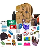 Bug Out Bag (Tan) One Person 72hr Notfall Kit, Essential für dieses Tag und Alter