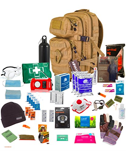 Person-survival-kit (Bug Out Bag (Tan) One Person 72hr Notfall Kit, Essential für dieses Tag und Alter)