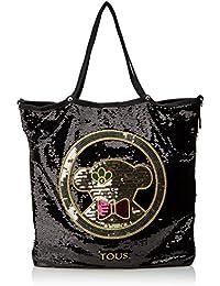 Tous Shopping Jodie Medallion Christmas de Nylon, Shopper para Mujer, Negro (Black), 1x42x37 cm (W x H x L)