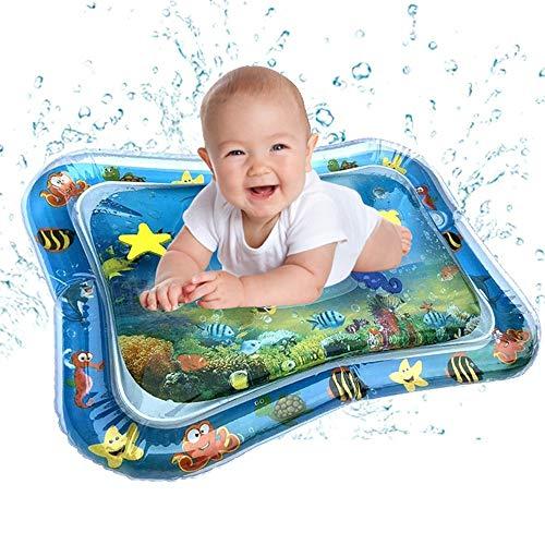 Bescita6 Aufblasbares Wasserbad Baby Aufblasbar Babywassermatte Fun Activity Play Center für Kinder und Kleinkinder (Blau)