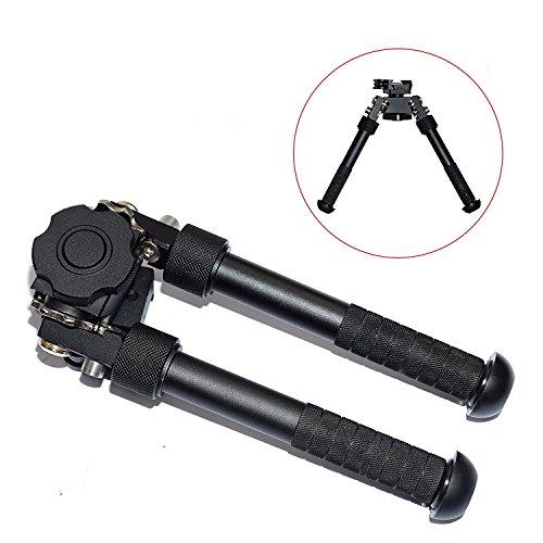 CYBERDAX V8 Bipod Gewehr Zweibein Freien CNC QD Taktische Picatinny Schiene Super Duty Einklappbar Ständer 6,5-9,6 Zoll Zweibein Verstellbar Füße (schwarz) -