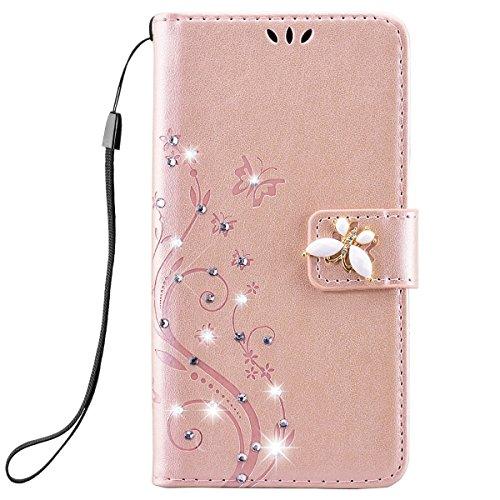 iphone-4-4s-hulle-yokata-flip-rose-gold-case-vintage-pu-leder-bookstyle-blumen-und-bling-diamant-sch