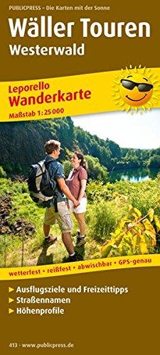 Wäller Touren Westerwald: Leporello Wanderkarte mit Ausflugszielen, Einkehr- & Freizeittipps, Straßennamen & Höhenprofil, reißfest, wetterfest, ... 1:25000 (Leporello Wanderkarte / LEP-WK)