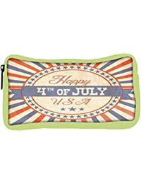 Snoogg Eco Friendly Canvas Independence Day Greeting Card In Vintage Style Student Pen Pencil Case Coin Purse...