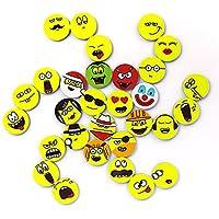 32 Stück 4cm Magnete Kühlschrankmagnete Smiley Grins Smile Magnet Set Dekomagnet