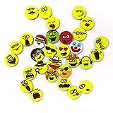 Emoji-Magnete, (30 St;ø 2,5 cm), stark haftende Flach-Magnete, Smiley-Magnete, Kühlschrank-Magnete, Belohnungs-Magnete, Extra großes Emoji-Set für jeden Tag im Monat Gute Laune