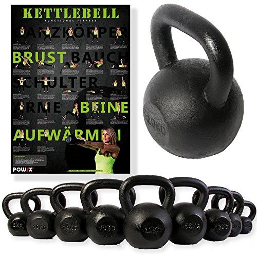 POWRX Kettlebell 4-30 kg | POWRX Kugelhantel Guss (20 kg)