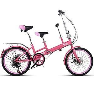 YUMEIGE Kinderfahrräder 20 Zoll Fahrrad, Mutter und Kind Tandem Folding...